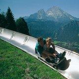 Sommerrodelbahn Obersalzberg mit Blick auf Watzmann