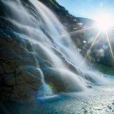 Viel Wasser bestimmt die Szenerie in Flims Laax