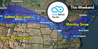Snow Before You Go: Spring Out West, Winter Back East