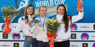 Neuer Speed-Weltrekord an der 15-Meter-Wand von Iuliia Kaplina (RUS)
