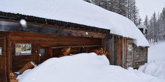 Jusqu'à un mètre de neige fraiche tombé en 48h dans le Queyras - ©Office de Tourisme du Queyras