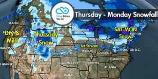 Snow Before You Go: Storm Track to Bring Snow East - ©Meteorologist Chris Tomer