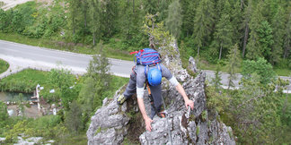 Im Kalo-Klettersteig - ©Bergleben.de