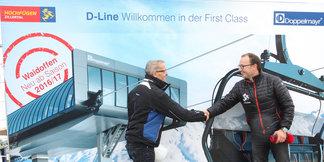 """Hochfügen weltweit erstes Skigebiet mit """"D-Line"""" 6er-Sesselbahn von Doppelmayr - ©Roman Potycanowicz"""