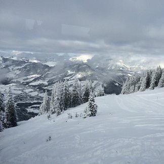 Rakouské Alpy: Čerstvý sníh 28.1.2015