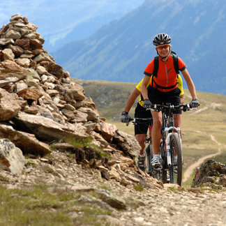 Biker in Serfaus-Fiss-Ladis