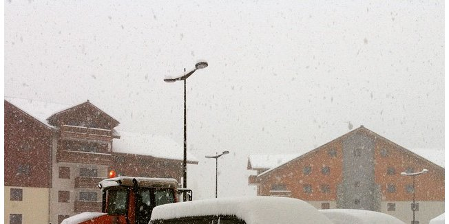 Powder in French Alps Dec. 27, 2014