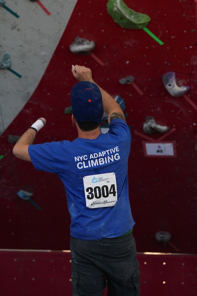 Adaptive athletes were crushing it during Sunday's boulder competition