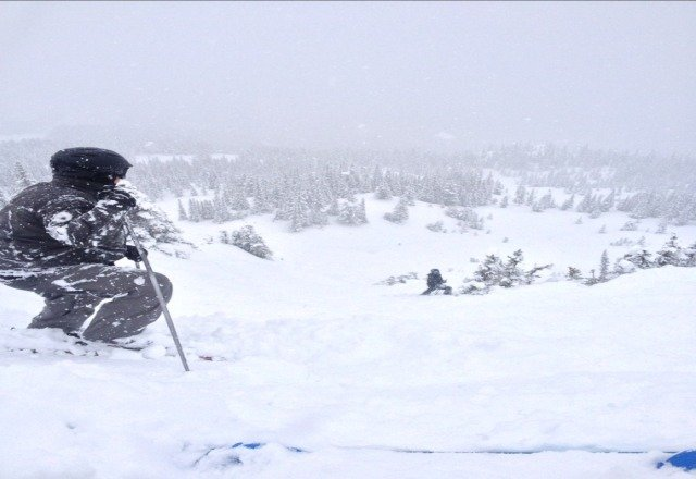 awesome today , over a foot of fresh