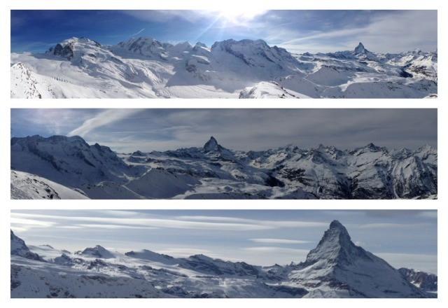 snow, panorama and very few people on the pistes- last week of january and first week of feb is perfect