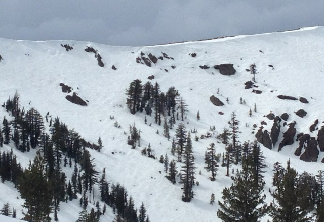 snow sticky in some places, but good coverage.  overall, solid spring conditions