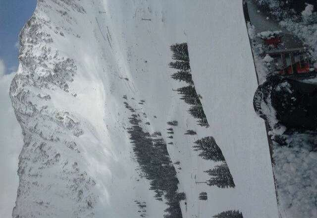 snow in zuma / south facing turned really heavy, terrain can be unforgiving