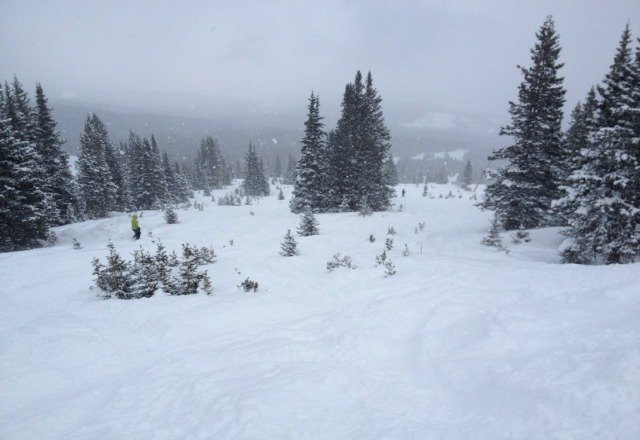 Epic, epic, epic... knee deep on peak 7, some spots deeper. Fresh, light, un touched pow all over the mountain. Those who complain of rocks - stick to the greens.. Shred fest!