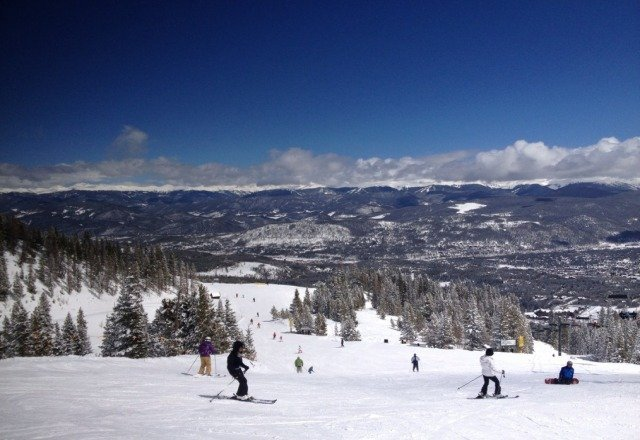 Great conditions, spring skiing at its best.