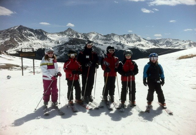 Me and my buds at the most beautiful spot at Copper!!!