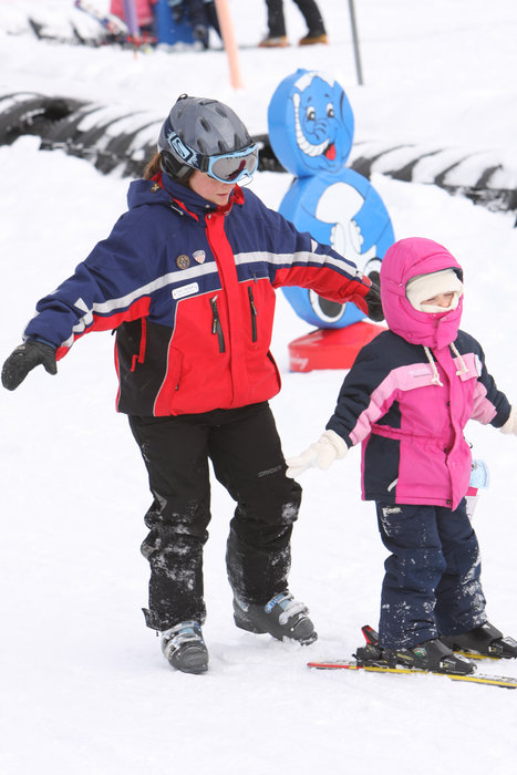 Children receiving snowsports instruction at Boyne Highlands, Michigan