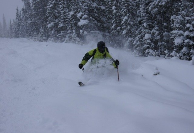 Tons of pow! (this photo is fro yesterday)