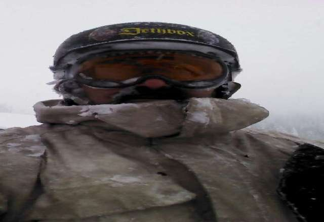 its always. foggy up here....that's why you need your Batwaves. ride by brail.  Snow conditions are fantastic !