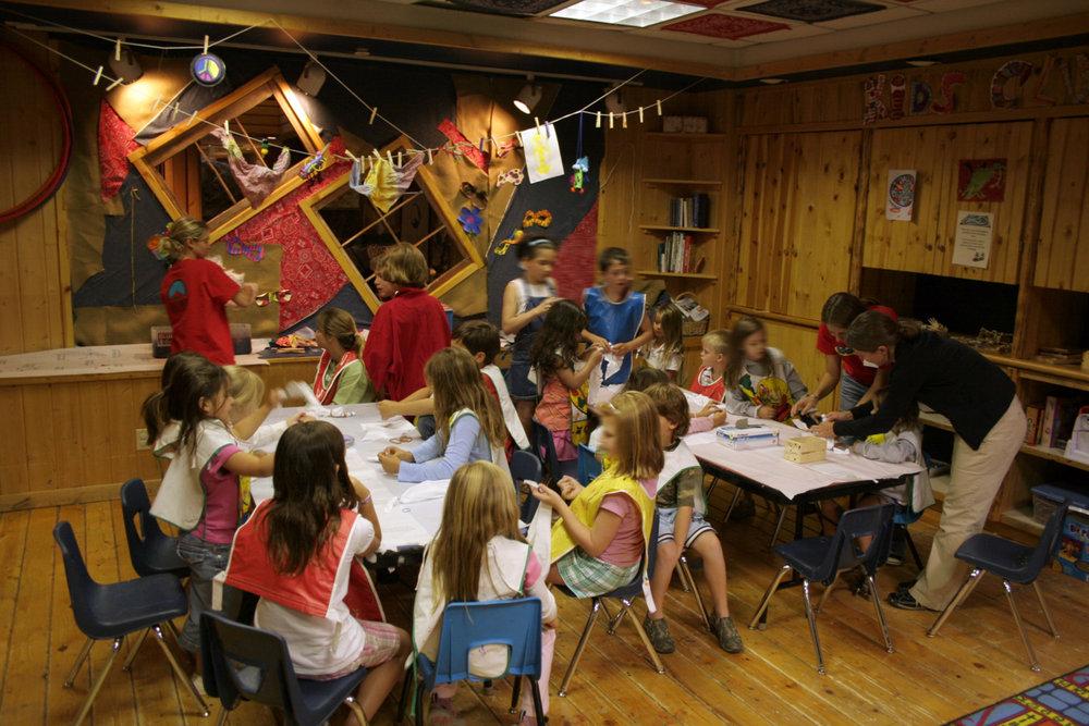 Kids at the Big Sky Resort, Montana Kids Club perform activities