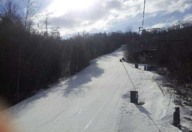 Nice conditions and short lines...perfect day to play hooky!