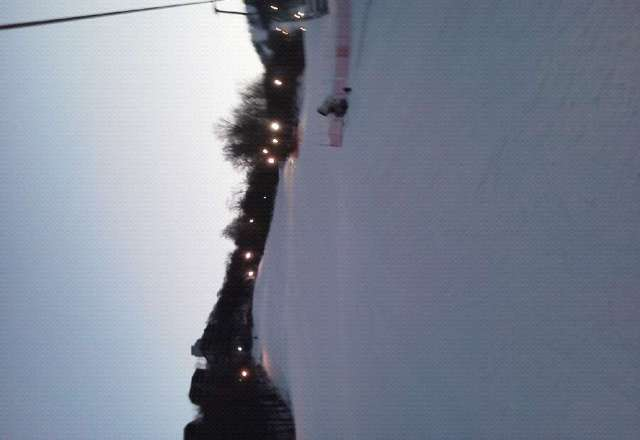 great skiing considering its east coast. alittle ice