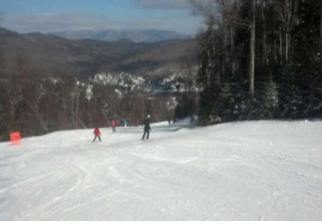Great packed powder conditions today.   it was a cold one but fine with plenty of layers.  Excellent day on the slopes!