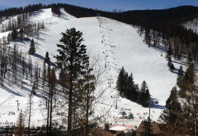 ski Apache, beautiful sunny spring like day. Feb 2, 2013.