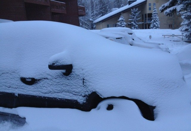 car this morning befor having to leave after an epic week of skiing taos. its a shame to leave all that powder. good luck to all.