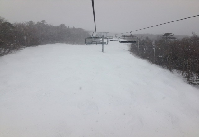 hero snow to be found.. the summit is the place to be today