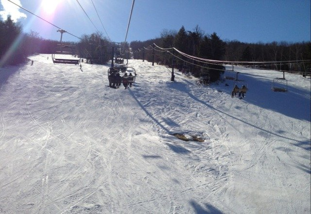 pretty solid day. ice here and there whih is expected, but some real clear runs. packed, but fun day