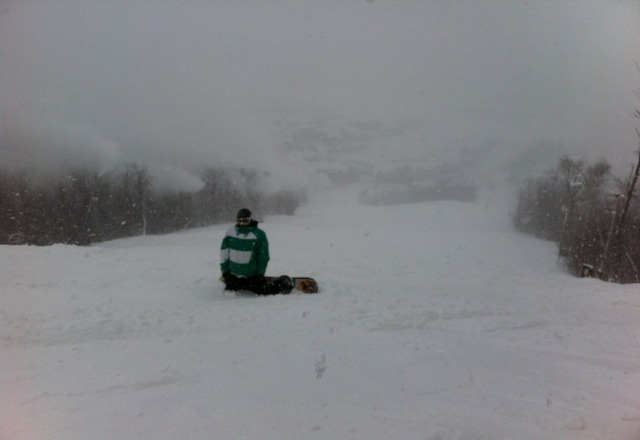 Went monday from 10:00-4:00 It never stopped snowing all day, and of course blue was adding their own snow as well. Had a pass at blue for 12-15 years, and can't ever remember riding in as much fluffy powder.