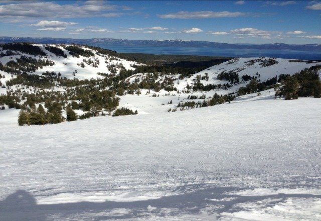 Great conditions. Not too slushy for afternoon skiing. I think there is still a few good days left.
