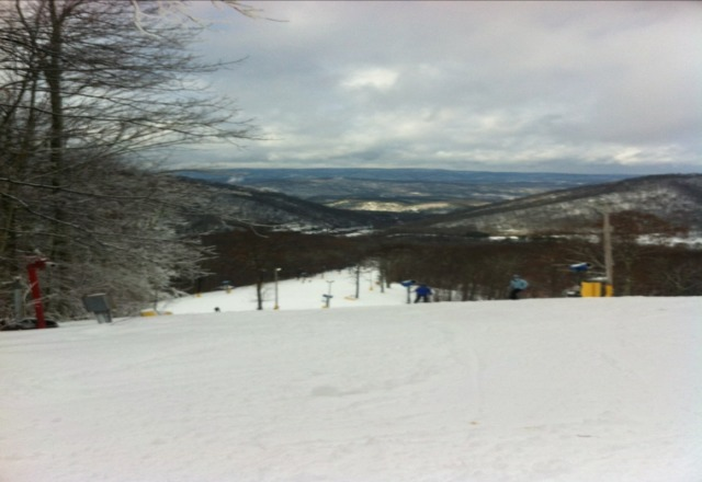 Had a great time on the runs today! Here' s from the top of the run
