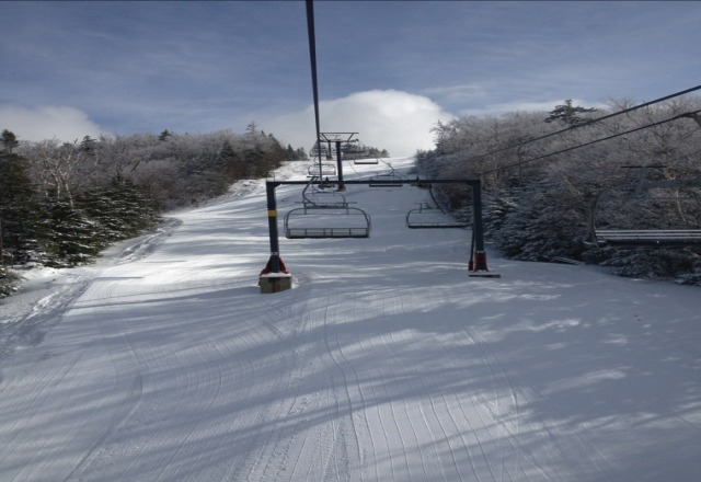 It was great skiing today and yesterday with a nice layer of fresh snow contributing to some great runs.