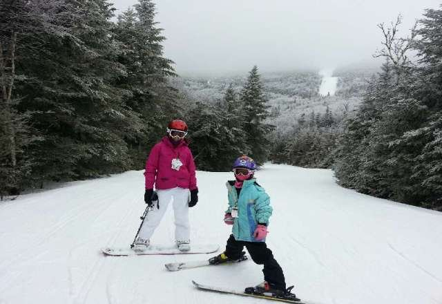 skiing is excellent today soft snow no one on the slopes