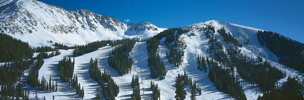 A scenic shot of Arapahoe Basin, CO.