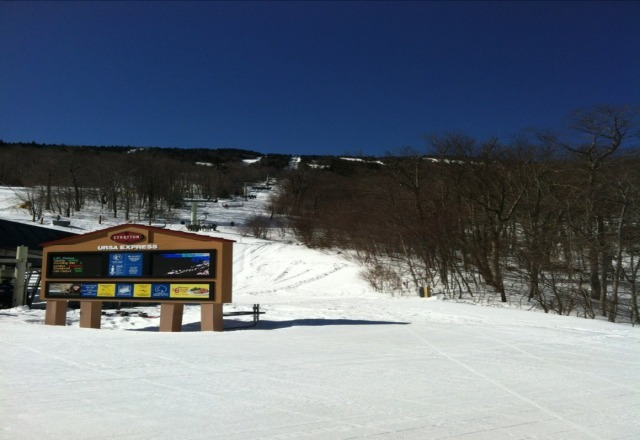 bluebird. soft and fast today. not too crowded.