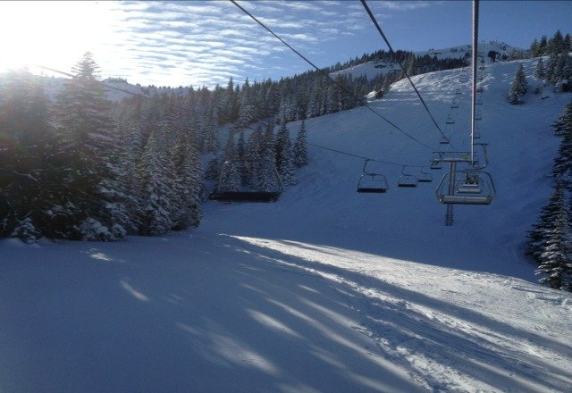 beautiful day at crystal on sunday.