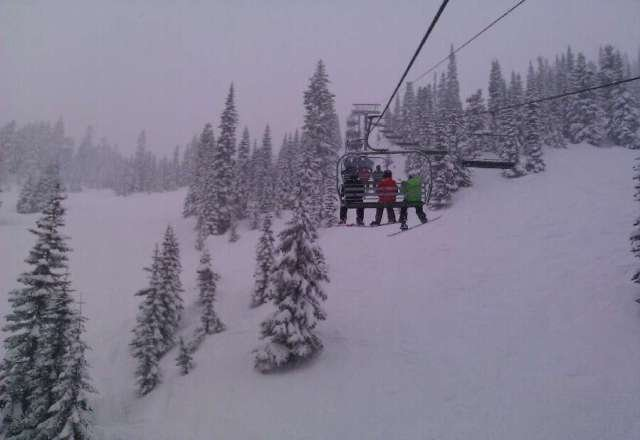 powder up to my eyeballs! wet but still fun
