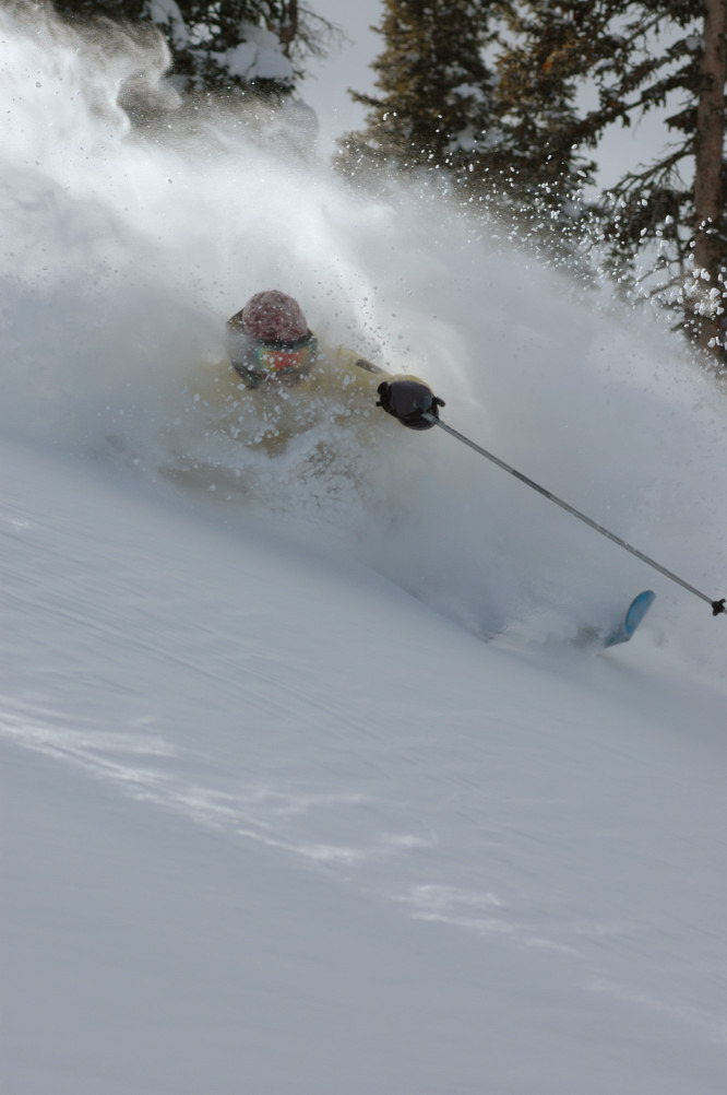 Wendy Fisher explores the fresh powder in Crested Butte, Colorado