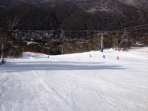 Cruise the long, wide runs of Thredbo, Australia