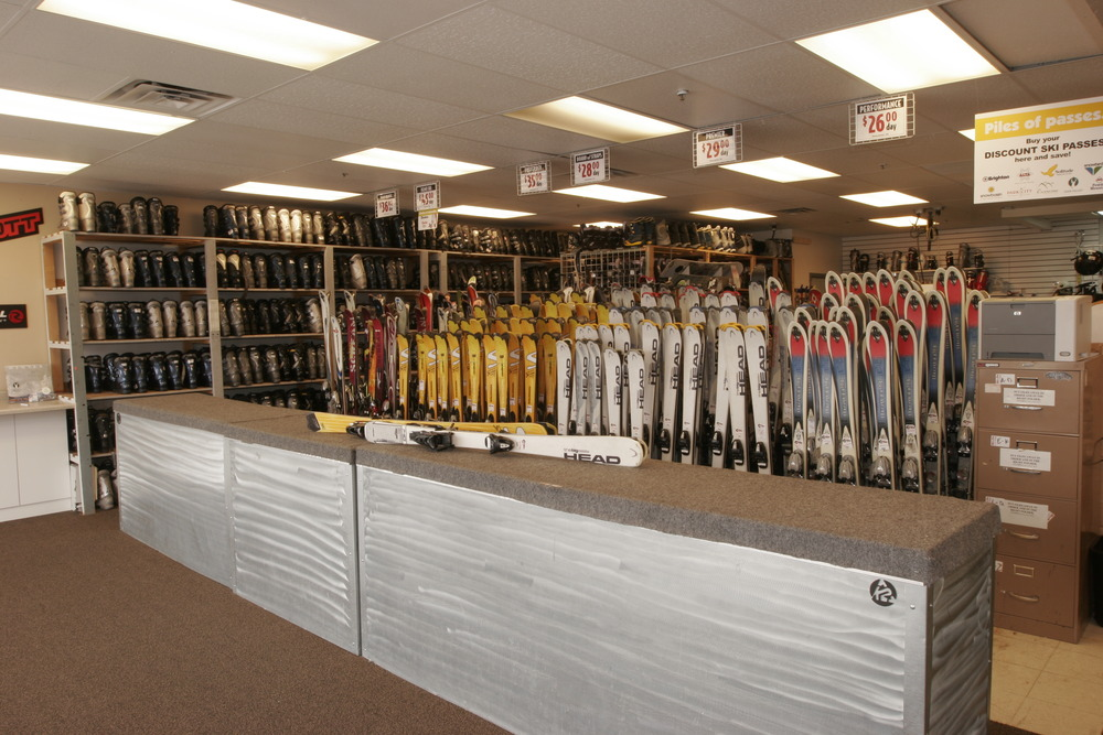 The interior of a Utah Ski n' See shop.