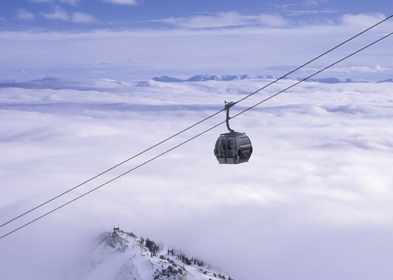 Gondolas in Mammoth, California