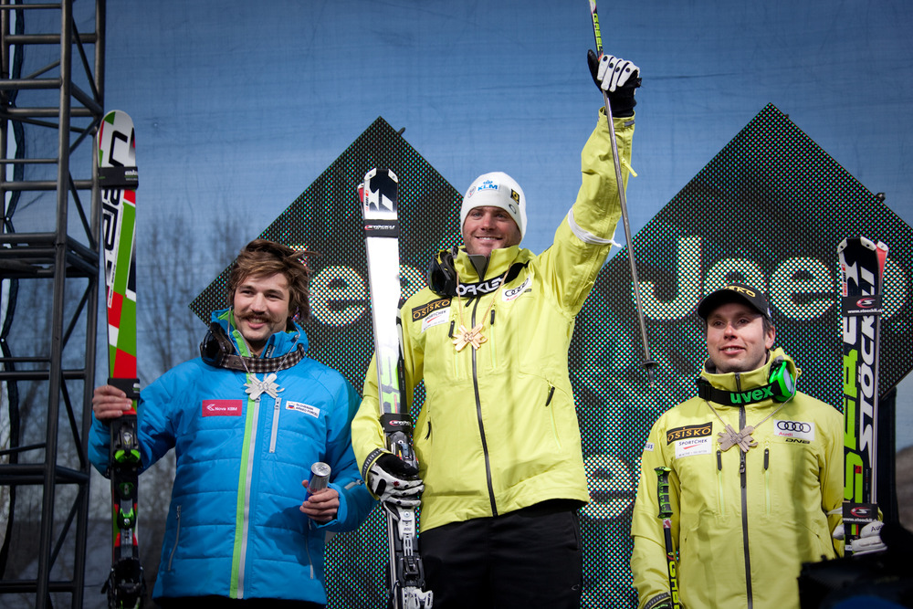 Men's Skier X podium. By Sasha Coben
