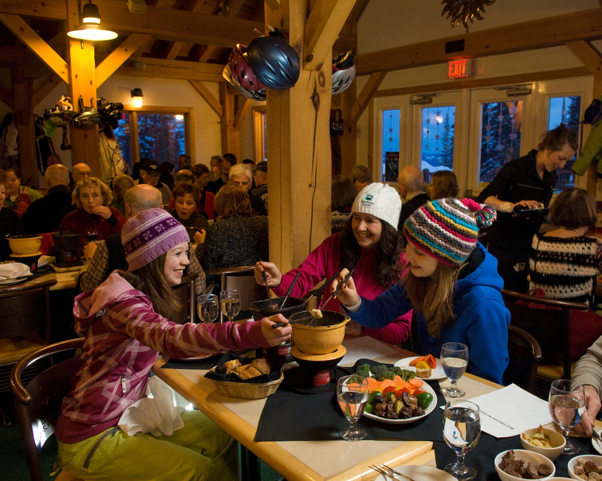 Sun Peaks Fondue Dinner and Torch ski. Photo by Adam Stein. Courtesy of Sun Peaks REsort.