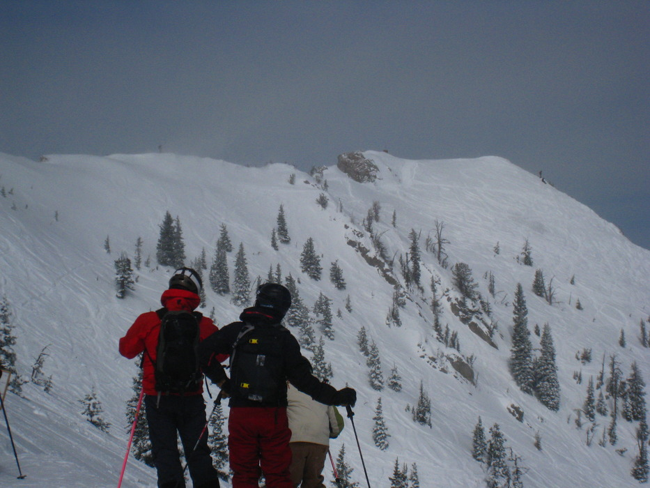 Schlasman's terrain at Bridger Bowl. Photo by Becky Lomax.