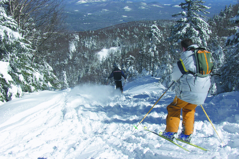 Glade skiing at Gore Mountain, New York