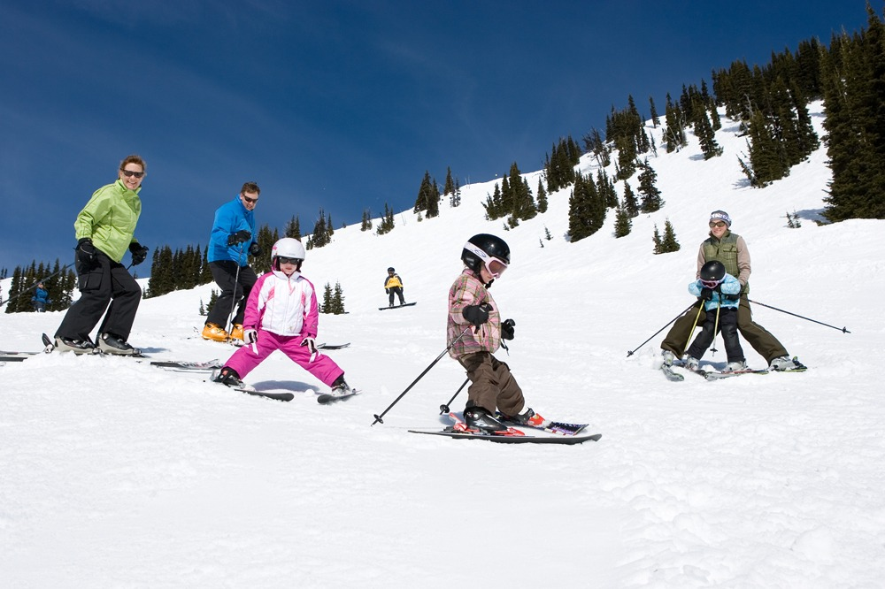 Family fun at Crystal Mountain, Washington. Courtesy of Crystal Mountain Resort.
