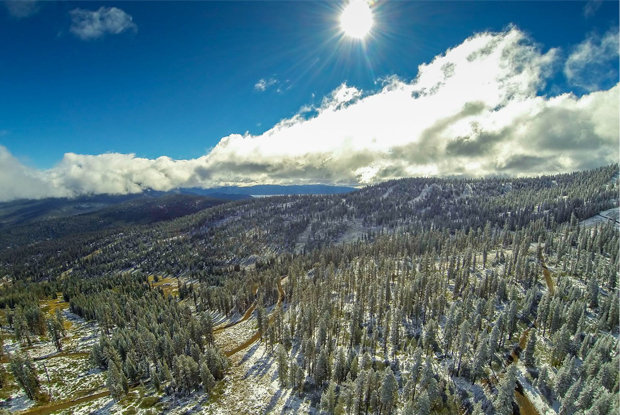 First signs of winter on Northstar's slopes. The ski season is expected to kick off at Northstar on November 22 this year, weather permitting.