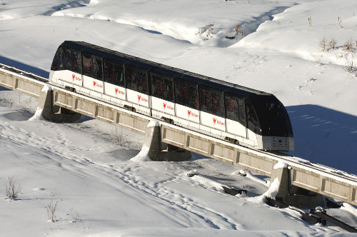 Best ski lifts: the underground Funival lift in Val d'Isère.